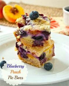 blueberry peach pie bars...going to attempt these!
