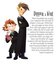 Caerulus Ignus - Dipper and Wirt, Hogwarts, Gravity Falls, Over The Garden Wall, Done by KicsterAsh