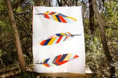 Feather Quilt designed & made by Shannon Page of the Dallas MQG for the MQG Riley Blake Fabric Challenge