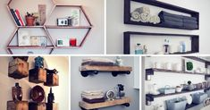 Explore DIY shelves that work for many spaces. Find ideas for floating wall shelves or stacking shelves that are easy to make. Stacking Shelves, Floating Wall Shelves, Diy Home Projects Easy, Craft Projects, Decor Crafts, Diy Home Decor, Trends, Bookshelves, Shoe Rack