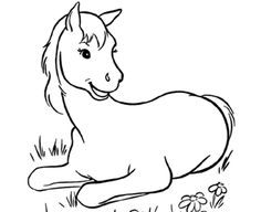 Printable Horse Coloring Pages!