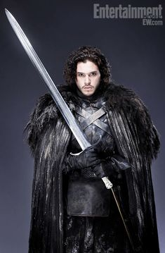 Jon Snow and Longclaw. Game of Thrones portraits for EW. #Winteriscoming
