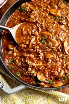 Low Syn Rich Mustard Beef with Mushrooms - the perfect meal for the whole family. Slimming World Minced Beef Recipes, Healthy Beef Recipes, Mince Recipes, Slimming World Recipes, Beef With Mushroom, Mushroom Pasta, Minced Meat Recipe, Slimming Eats, Family Meals