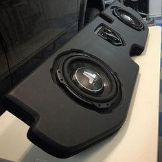 Custom box for a Dodge Ram 1500 by @eminenthifi featuring (2) 10TW3 thin-line subwoofers! #jlaudio ...