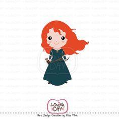 Disney Merida Clip Art   Princess Merida - Digital Clip Art A58