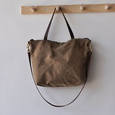 super cute tote bags by bookhou on etsy. i love me some waxed canvas.