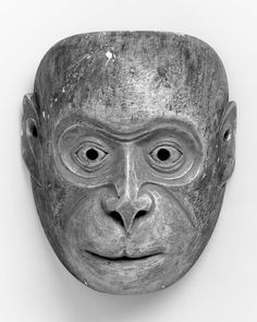 Kyogen mask of the Saru type