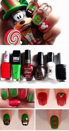 nice 27 DIY Christmas Nail Art Ideas for Short Nails