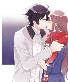 Anonymous said: Hi there beautiful soul^^ Your art is so gorgeous and cute omg. If you don't mind could you draw when jumin kissed mc's scratch in his. Jumin Han Mystic Messenger, Mystic Messenger Characters, Romantic Anime Couples, Cute Anime Couples, Jumin Han Daddy, Jumin X Mc, Anime Love Couple, Illustrations, Anime Manga