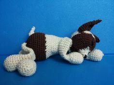 #edsanimal - Dog Fox terrier - crochet - cane amigurumi a uncinetto