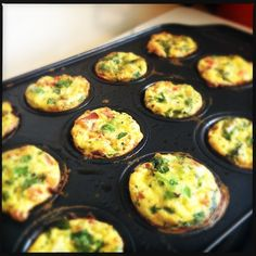 Mini Egg Muffin Bakes...clean eating.  Great option to pre-making breakfast for the on the go week.