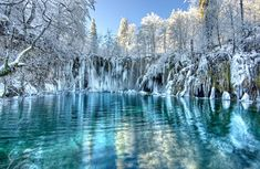 Plitvice Lakes National Park in the winter❄️ Plitvicka, jezera, Croatia Parc National, National Parks, National Forest, Places To Travel, Places To See, Europe Places, Travel Sights, Beautiful World, Beautiful Places