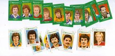 2 Sets of Jay Dees 1980's matchbox labels featuring Footballers, 18 in each set in Sports Memorabilia, Football Memorabilia, Trading Cards/ Stickers | eBay