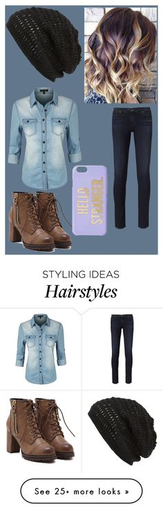 """""""Bad Hair Day"""" by haiz8 on Polyvore featuring Kate Spade, AG Adriano Goldschmied, LE3NO and King & Fifth Supply Co."""