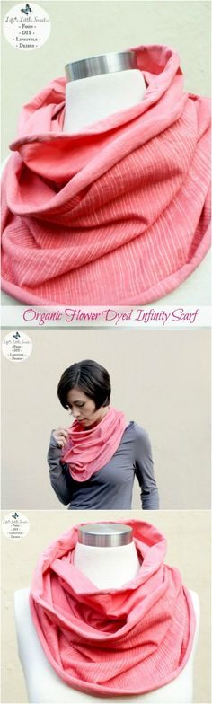 This Organic Flower Dyed Infinity Scarf is the perfect year round accessory to dress yourself in carefree, easy, organic style. Musical Yoga Adventures makes this comfy & casual scarf, check out their baby & children's music and other items!