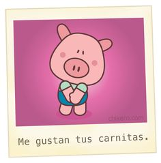 Pig Wearing Shirt & Pants - by Chikero Love Images, Funny Images, Funny Spanish Memes, Little Pigs, Love Messages, Funny Love, Funny Cartoons, Love Words, Love Quotes