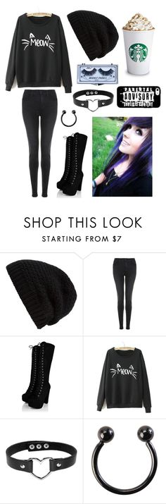 """Random Fall Outfit"" by cassiopeia-lestrange ❤ liked on Polyvore featuring Rick Owens, J Brand and WithChic"