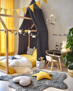 In order to get an effective result in kids room decoration, some basic things need to be paid attention. For example, the kids room need to have the … - Beautiful Kids Bedroom Design That Will Make Kids Happy Baby Bedroom, Baby Boy Rooms, Baby Room Decor, Girls Bedroom, Bedroom Yellow, Kid Bedrooms, Kids Wall Decor, Playroom Decor, Nursery Decor