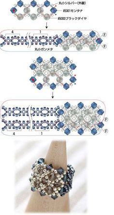 How to Make Simple Glass and B Beaded Jewelry Patterns, Bracelet Patterns, Beading Patterns, Seed Bead Jewelry, Bead Jewellery, Wire Jewelry, Beaded Rings, Beaded Bracelets, Seed Bead Tutorials