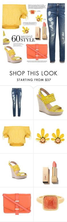 """""""denim style"""" by paperdollsq ❤ liked on Polyvore featuring Tommy Hilfiger, Charles by Charles David, PUR, Victoria Beckham, Anja, Rivka Friedman and mesome"""
