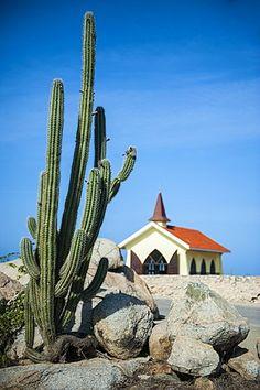 Capilla de Alto Vista, Aruba, Islas de ABC, Antillas Holandesas, el Caribe, América Central
