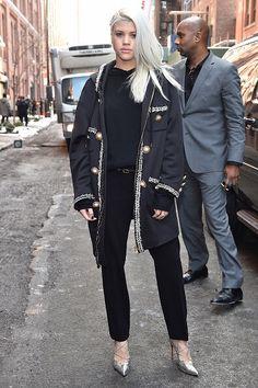 Sofia Richie arriving at the Jeremy Scott fashion show #nyfw #jeremyscott
