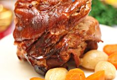 Mézes-sörös sült csülök Grill N Chill, Meat Recipes, Cooking Recipes, Hungarian Recipes, Hungarian Food, Food 52, Carne, Steak, Bacon