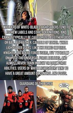 Lightsaber Crystal Guide White