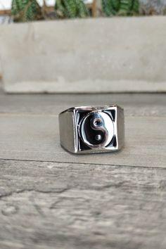 Ανδρικό δαχτυλίδι 'Yin-Yang' (Ατσάλι)