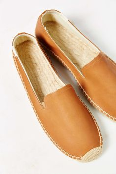 Soludos Leather Platform Espadrille Loafer