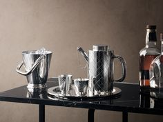 Bernadotte silver bar and wine collection