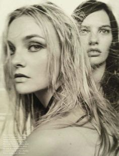 Caroline Trentini and Amanda Murphy by Steven Meisel for 50th Anniversary of Vogue Italia, September 2014