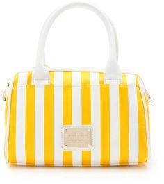 OZOC 2WAYマリンミニボストンバッグ / yellow striped nautical satchel on ShopStyle