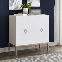 White and Gold 2 Door Accent Chest lifestyle living room Tray Styling, Contemporary Cabinets, Accent Chest, Eclectic Design, Interior Design, White Doors, Catio, Modern Rustic Interiors, Adjustable Shelving