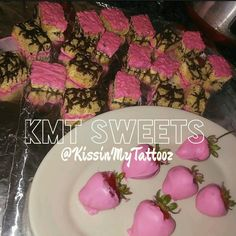 Made some Chocolate Pink Covered Dip Strawberries and Rice Krispy Treats for this Event.