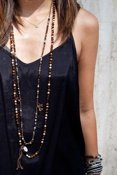 Chan Luu - Tiger's Eye Mix Layering Necklace, http://www.chanluu.com/necklaces/tigers-eye-mix-layering-necklace-/)