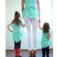 Cute #MommyandMe #Fashion! You can make these shirts yourself!