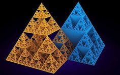 "The image shown here is the analogue of the higher dimensional square-based pyramid form and its inverse of the flatland 2-dim Sierpinski Triangle."" Jain 108 Mathemagics  https://www.facebook.com/jainmathemagics via Nassim Haramein  https://www.facebook.com/TheResonanceProject/photos/a.224460250920411.60587.216281778404925/836746546358442/?type=1&theater   http://resonance.is/#TheSierpinskiTriangle #SierpinskiGasket #SierpinskiSieve"