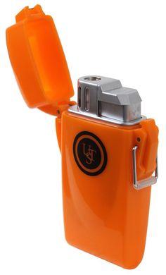 Rothco Orange UST Floating Camping Survival Lighter - Waterproof & Windproof