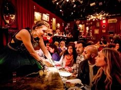 Plates of Ukrainian vareniki and plenty of vodka gets the crowd spirited at New York's production of  Natasha, Pierre and the Great Comet of...
