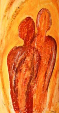 Acryl, Gips auf Leinwand 50 x 70