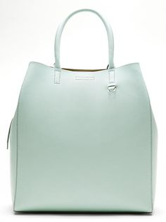 Mint Leather Tote