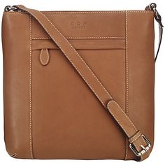 O S P Osprey Murano Medium Leather Across Body Bag Online At Johnlewis