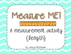 This is a freebie from my packet, Measure ME! Students take on length in a whole new meaningful way to measure parts of their bod. 2nd Grade Activities, Measurement Activities, Math Measurement, Math Classroom, Kindergarten Math, Teaching Math, Teaching Ideas, Classroom Ideas, Math Stations