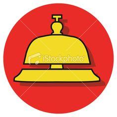 service bell Royalty Free Stock Vector Art Illustration