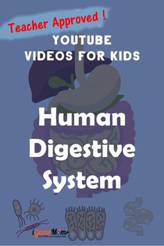 Teacher approved best YouTube science videos teaching human body digestive system to kids in preschool to middle school. Free science resources for science class, biology class, homeschool Science Videos For Kids, Youtube Videos For Kids, Science Activities For Kids, Science Resources, Teaching Science, Learning Activities, Teacher Resources, Teaching Kids, Science Fair