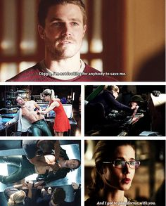 Felicity and Diggle are always saving Oliver. Just as much as he is saving them and Starling City.
