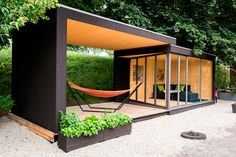 Wonderful Modern Prefab Studio Shed Design With Relax Space Ideas . Inspiring Prefab Studio Shed Design For You Backyard Office, Backyard Studio, Cozy Backyard, Backyard Storage, Outdoor Storage, Garden Office, Outdoor Office, Backyard House, Backyard Slide