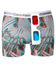 I can't count how many boys I  know that would want 3-D underwear. If only it had Spiderman on it....Calvin Klein 3D Trunks at ASOS