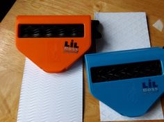 Emboss and use flat or wrap around a block to make a roller!